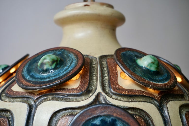 Handmade Danish Ceramic Pendant Light by Jette Hellerøe for Axella, 1970s For Sale 2