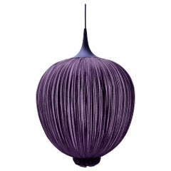 Handmade Dark Pleated Silk Dippa Pendant Lamp