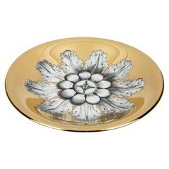 Handmade Decorative Centrepiece Rosone Black White Gold