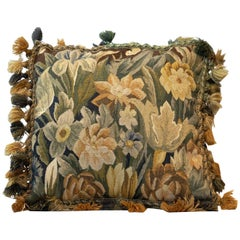 Handmade Decorative Pillows, Vintage French Style Aubusson Pillow Cushion Cover