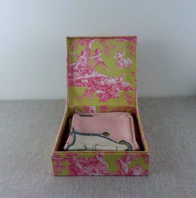 Handmade Decorative Storage Box for Scarves in Toile de Jouy Manuel Canovas 2