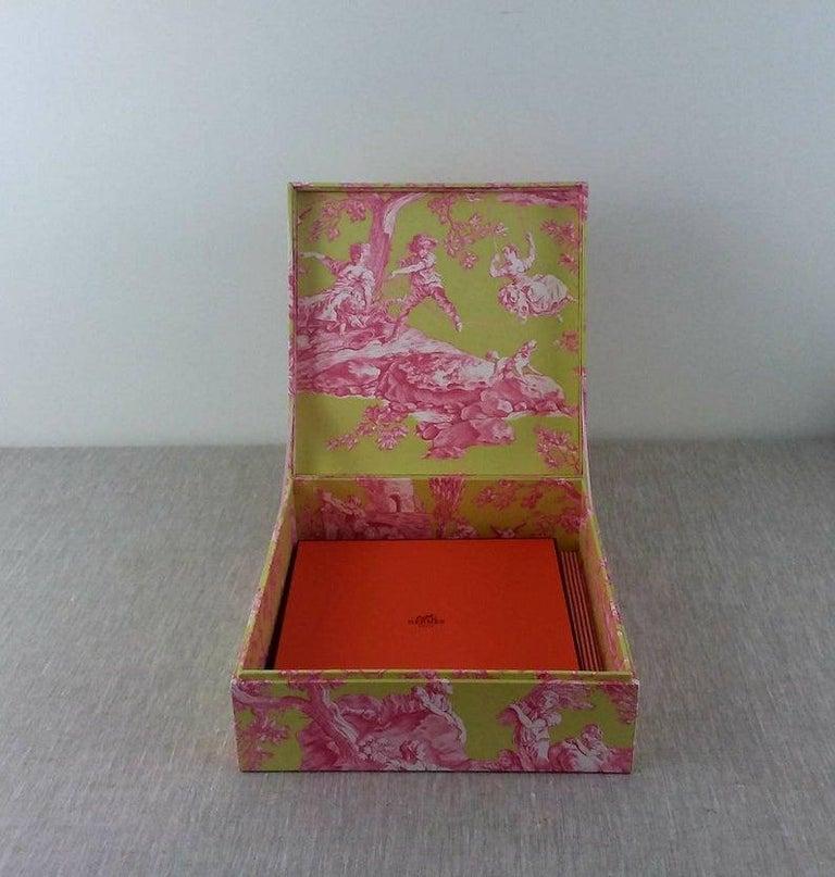 Handmade Decorative Storage Box for Scarves in Toile de Jouy Manuel Canovas 3