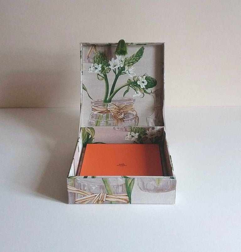 Handmade Decorative Storage Box for Scarves Linen Fabric by Manuel Canovas For Sale 4