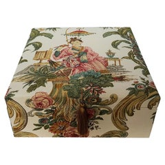Handmade Decorative Storage Box for Scarves Nobilis Toile Chinese Pattern