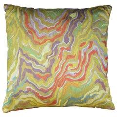 Handmade Designer Contemporary Linen Colorful Pillow