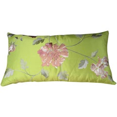 Handmade Designer Silk Floral Pillow