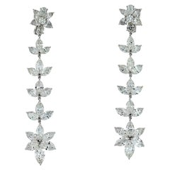 Handmade Diamond Drop 22.12 Carat Diamond Earrings