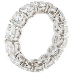 Handmade Ethical Full Diamond Eternity Ring in Platinum c7.50 Carat