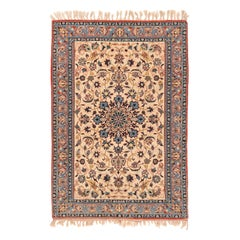 Handmade Extremely Fine Persian Antique Isfahan Silk Rug