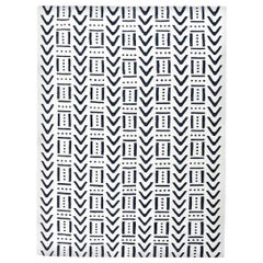 Handmade Flat-Weave Contemporary Black and White Colors Ethnic Rug