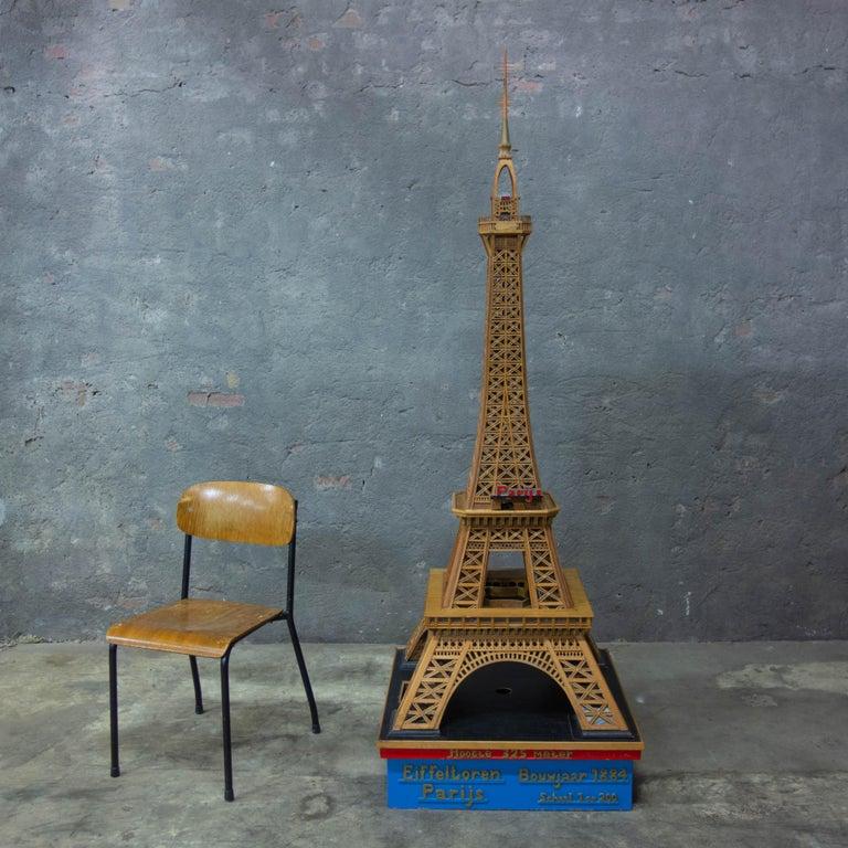 Handmade Folk Art Model of the Eiffel Tower, 1950 For Sale 3