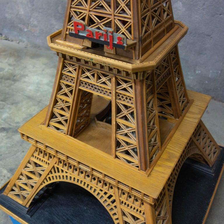 Handmade Folk Art Model of the Eiffel Tower, 1950 For Sale 4