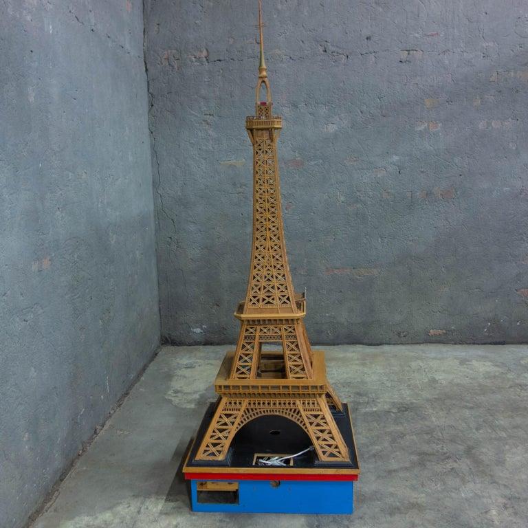 Mid-Century Modern Handmade Folk Art Model of the Eiffel Tower, 1950 For Sale
