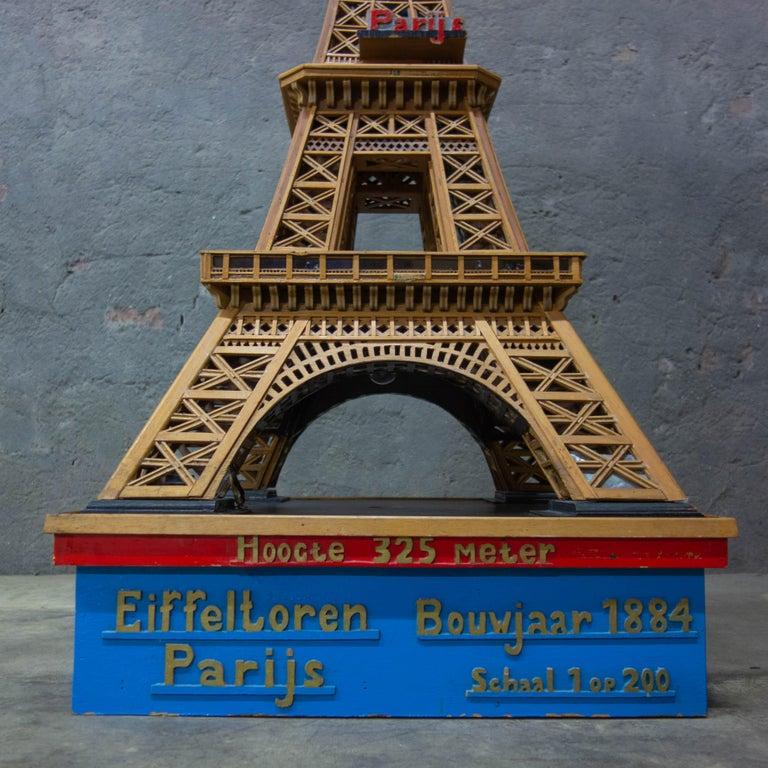 Dutch Handmade Folk Art Model of the Eiffel Tower, 1950 For Sale