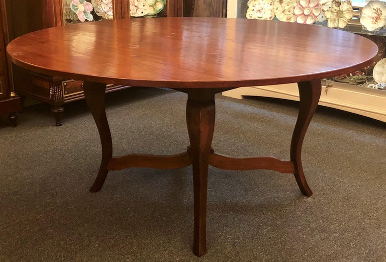 Handmade French Provincial Fruitwood Round Dining Table