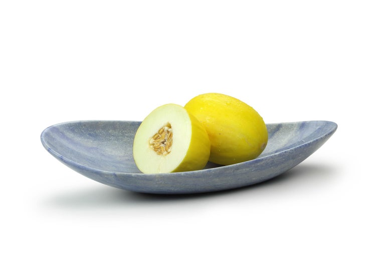 Handmade Fruit Bowl in Blue Azul Macaubas Contemporary Design by Pieruga Italy For Sale 5