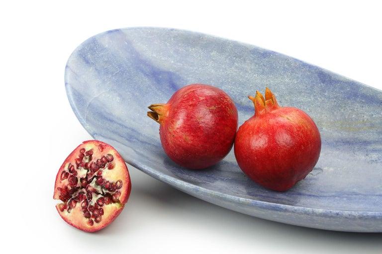 Handmade Fruit Bowl in Blue Azul Macaubas Contemporary Design by Pieruga, Italy For Sale 7