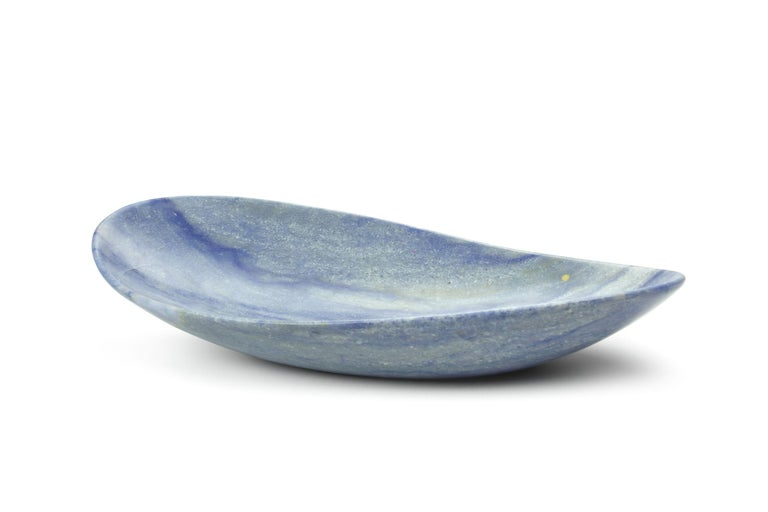 Handmade Fruit Bowl in Blue Azul Macaubas Contemporary Design by Pieruga Italy For Sale 7
