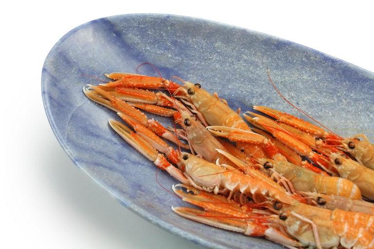 Handmade Fruit Bowl in Blue Azul Macaubas Contemporary Design by Pieruga, Italy For Sale 1