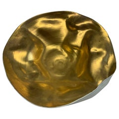 Handmade Gold Large Freeform Bowl, Italy, Contemporary
