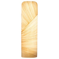 Handmade Gold Pleated Silk Mino 18 Floor Lamp