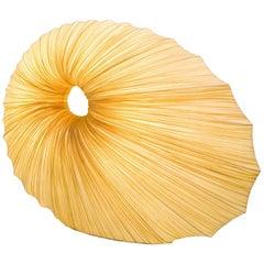Handmade Gold-Pleated Silk Sikus Floor Lamp