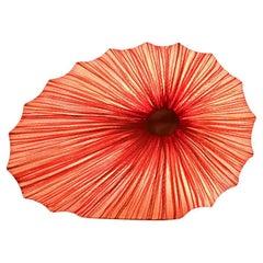 Handmade Gold Pleated Silk Viola Table Lamp