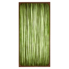 Handmade Grass Pleated Silk Mahogany Simon Says Maybe Wall and Ceiling Light