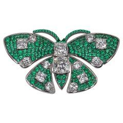 Handmade Green Butterfly Brooch