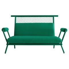 Handmade Green PK7 Sofa, Carbon Steel structure & Metal Mesh by Paulo Kobylka