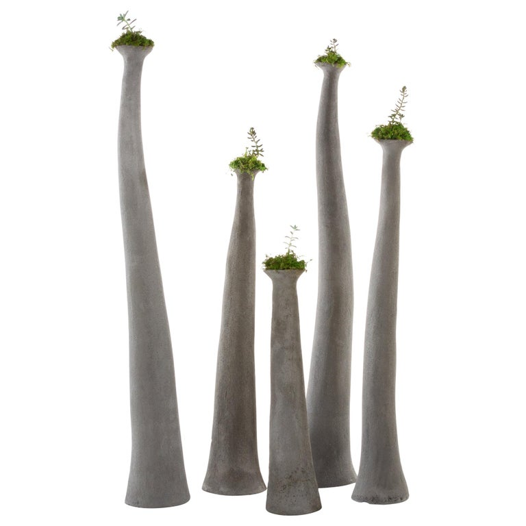 """OPIARY Concrete """"Hoodoo"""" Planters (Small set : H 28""""-52"""") For Sale"""