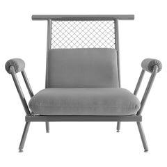 Handmade Grey PK6 Armchair Carbon Steel Structure & Metal Mesh by Paulo Kobylka