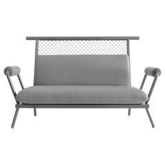 Handmade Grey PK7 Sofa, Carbon Steel Structure and Metal Mesh by Paulo Kobylka