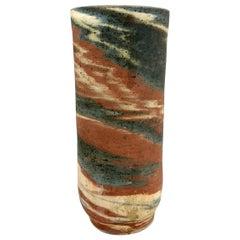 Handmade Hungarian Ceramic Vase by Eva Bod, 1970s