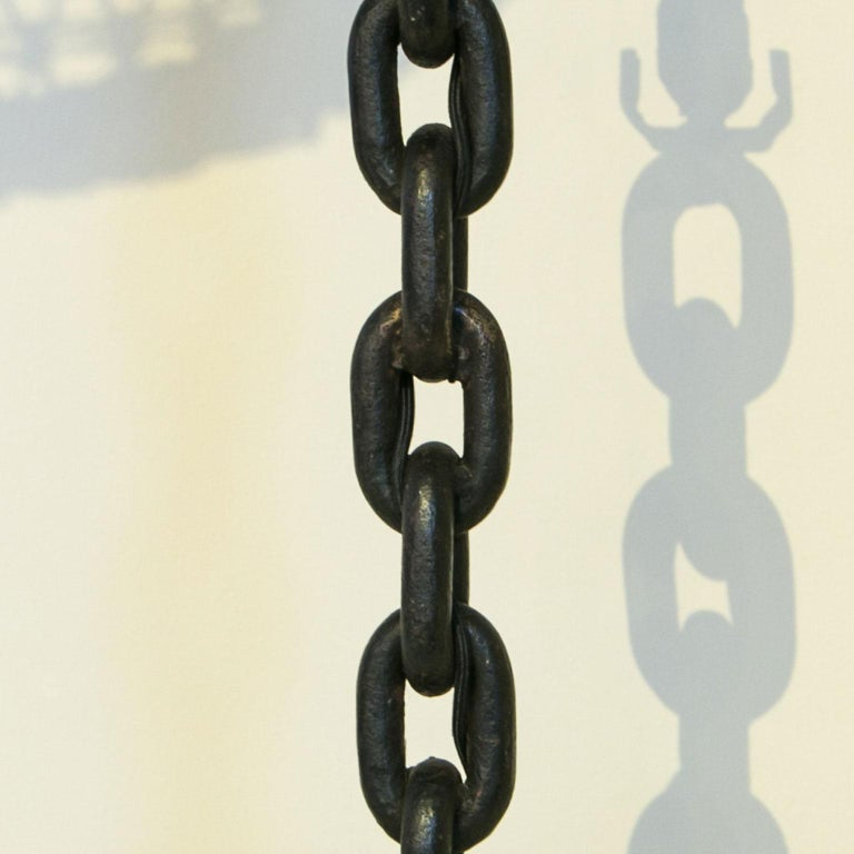 Modern Handmade Iron Chain Table Lamp For Sale