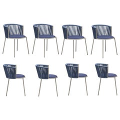 Handmade Italian Garden Chairs in Midnight Blue
