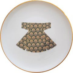 Handmade Kaftan Porcelain Dinner Plate Made in Italy, Kaft2