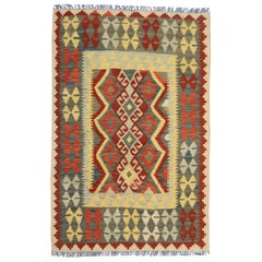 Handmade Kilim Carpet Flat Geometric Traditional Wool Kilim Rug