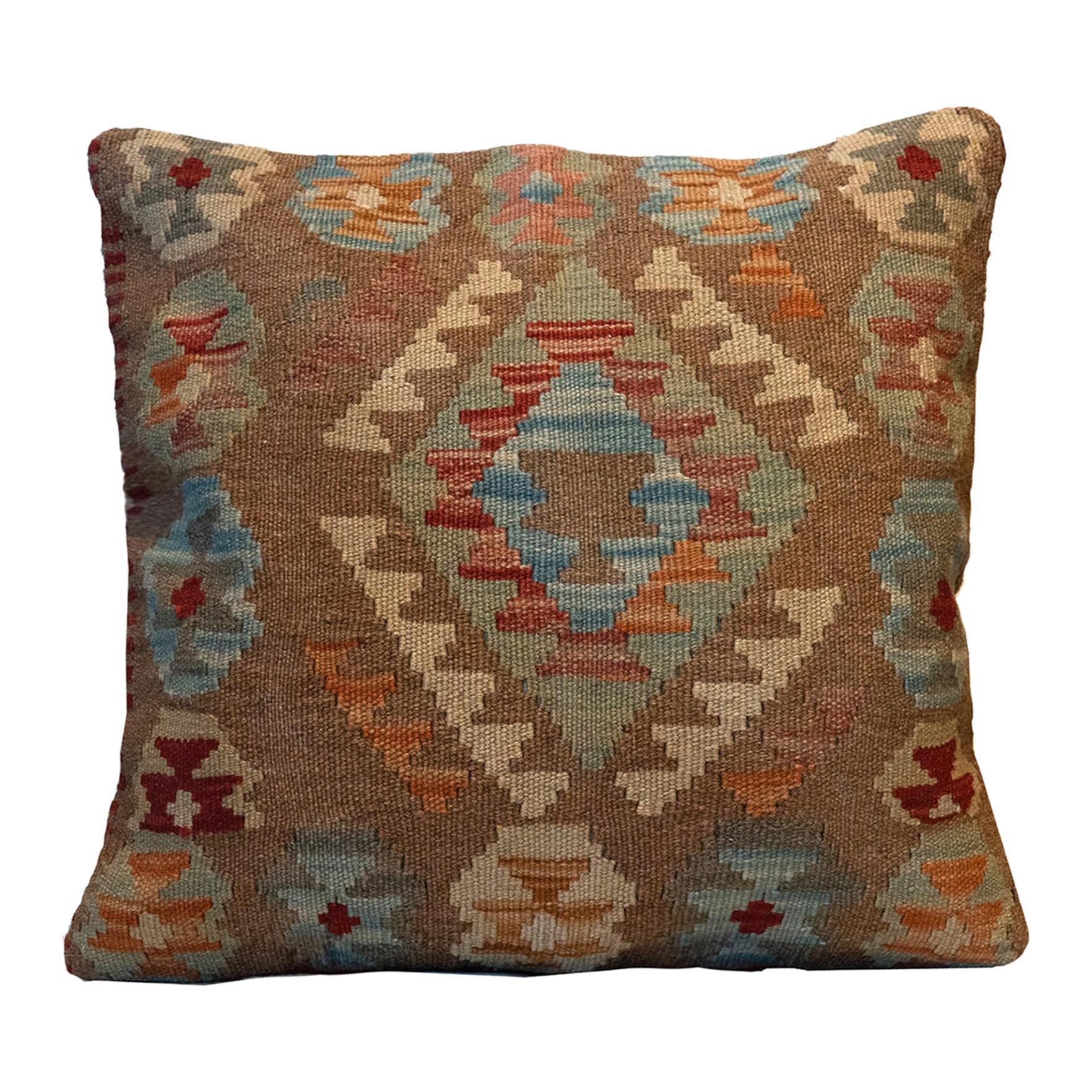 Handmade Kilim Cushion Cover, Oriental Wool Pillow Cover