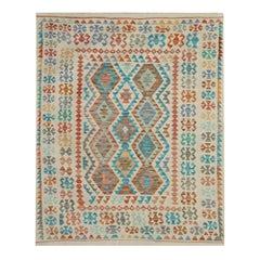 Handmade Kilim Rugs Kelim Traditional Rugs Blue Carpet from Afghanistan