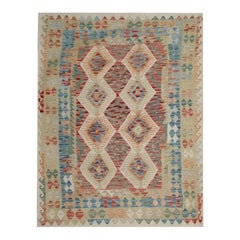 Handmade Kilim Rugs Kelim Traditional Rugs Blue Carpet from Afghanistan