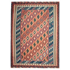 Handmade Kilim Rugs, Traditional Rugs, Multicolored Afghan Rugs, Floor Carpet