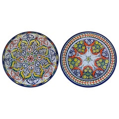 Handmade Large Ceramic Serving Decorative, Center Table Plate, Set of 2