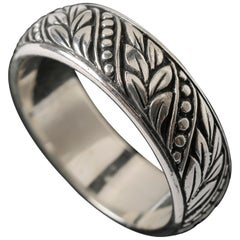 Handmade Laurel Leaf Ring Band
