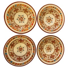 Handmade Light Brown & White Ceramic Serving Decorative, Center Table Plates