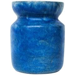 Handmade Lovely Blue Ceramic Vase from Sweden Midcentury