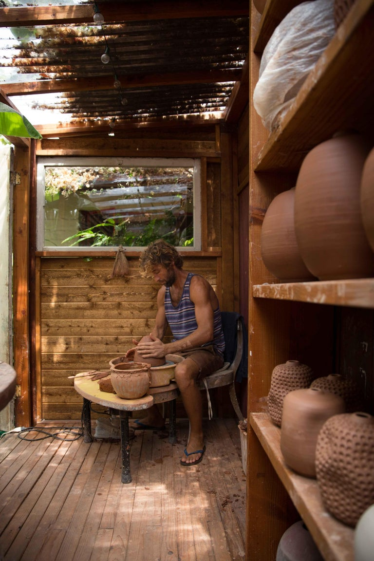 Joseph Skoby is a Southern Californian whose work is inspired by the nature of his native state. His ceramics, created in his own lush garden, recall his intimate dance with the ocean as a lifelong surfer, a pure form of self-expression that