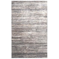 Handmade Modern Rug Beige and Brown Plain by Rug & Kilim