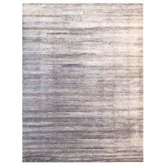 Handmade Modern Rug Beige, Gray and Black Plain by Rug & Kilim