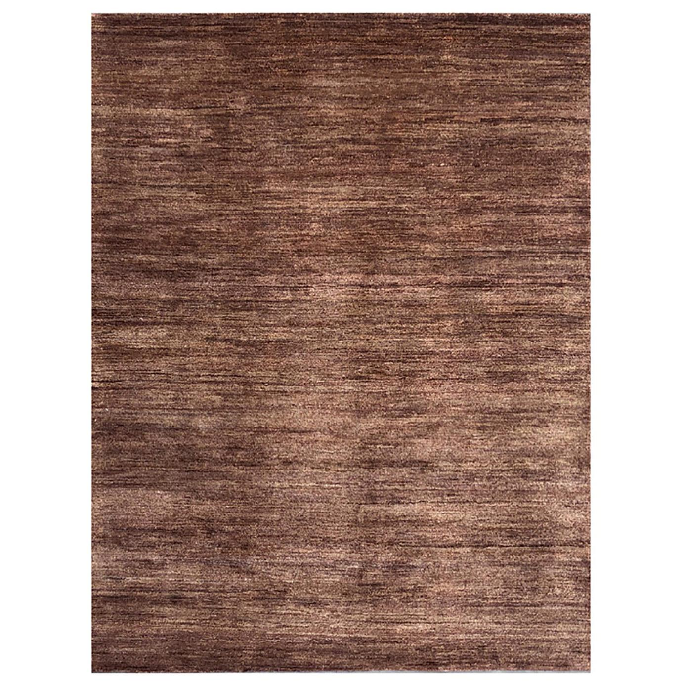Handmade Modern Rug Brown and Gray Plain by Rug & Kilim